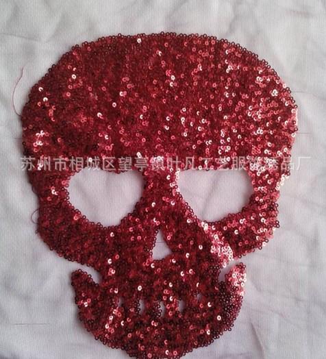 彩色珠片绣造就唯美花卉